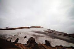 Cold Icelandic Landscape -  Laugavegur, Iceland. Cold Icelandic Landscape on the Laugavegur Trek Stock Photos