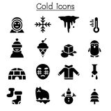 Cold icon set. Vector illustration graphic design Royalty Free Stock Photos