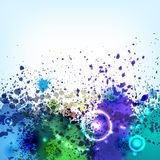 Cold ink blots background Royalty Free Stock Image