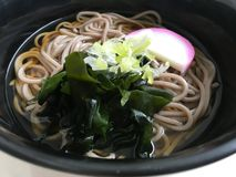 "Cold japanese noodle ""Zaru Ramen"" royalty free stock photography"