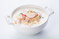 Cold kefir soup Royalty Free Stock Images