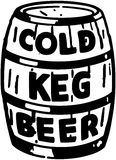 Cold Keg Beer Royalty Free Stock Photos