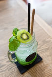 Cold Kiwi cocktail juicy Royalty Free Stock Photo