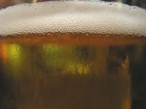 Cold Lager Glass. Cold Lager in a glass producing condensation Stock Photo