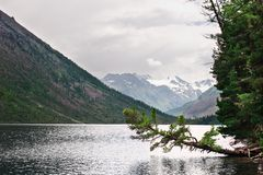 Cold lake and mountains. Royalty Free Stock Photos