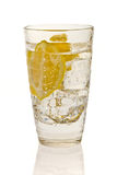 Cold lemon drink with ice Royalty Free Stock Photos