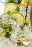 Cold lemon drink with mint Royalty Free Stock Photography