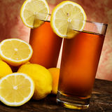 Cold lemon tea Stock Images