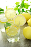 Cold lemon water Stock Image