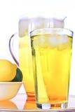 Cold lemonade. Ice cold lemonade on white Royalty Free Stock Photo