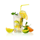 Cold lemonade Stock Photo