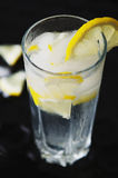 Cold lemonade with ice Royalty Free Stock Images