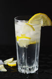 Cold lemonade with ice Royalty Free Stock Image