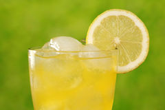 Cold lemonade with ice cubes Royalty Free Stock Photo