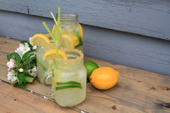 Cold lemonade for the worm days Stock Photo