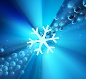 Cold Light Abstract. 3d illustration, blue illumination square background Royalty Free Stock Photography