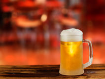 Cold light beer glass mug Royalty Free Stock Photography