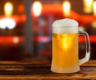 Cold light beer glass mug Stock Image