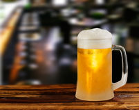 Cold light beer glass mug Royalty Free Stock Images