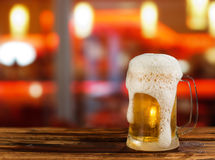 Cold light beer mug Royalty Free Stock Images