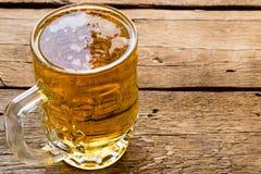 Cold light beer mug Stock Images