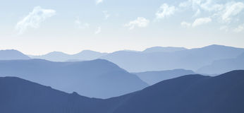 Cold light of day over the Scottish Highlands. stock photos