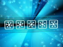 Cold Light Password Royalty Free Stock Images