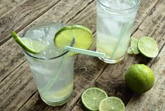 Cold lime drinks Stock Photography