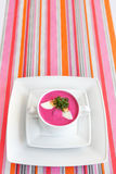 Cold Lithuanian borscht in the white plate Royalty Free Stock Images