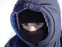 Cold Little Boy royalty free stock images
