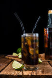 Cold Longdrink (Cuba Libre) Royalty Free Stock Photography