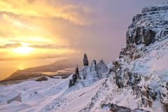 Cold Man of Storr Royalty Free Stock Image