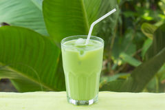 Cold Matcha green Tea Royalty Free Stock Photos