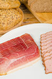 Cold meat and bread Stock Image