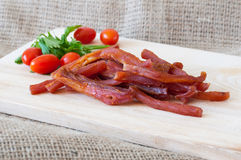 Cold meat cuts snack Stock Images