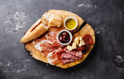 Cold meat plate Royalty Free Stock Photos