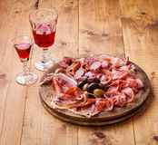 Cold meat plate Stock Photos
