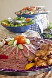Cold Meat Platter Stock Photo