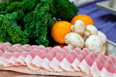 Cold meat platter stock images