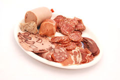 Cold meat platter Royalty Free Stock Image
