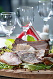 Cold meat platter Stock Photography