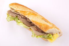 Cold meat Sandwich Stock Photography