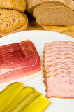 Cold meat snack Stock Images