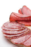 Cold meats, rolled ham and salami Stock Photography
