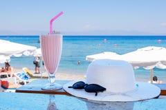 Cold milkshake. Greece Stock Images