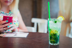 Cold mojito cocktail drink Stock Photography