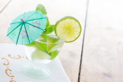 Cold Mojito cocktail Stock Images
