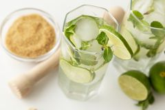 Cold mojito cocktails Royalty Free Stock Photo