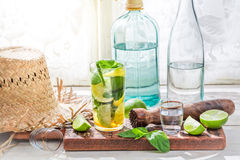 Cold mojito in glass Royalty Free Stock Photos