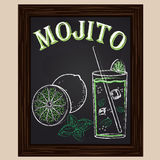 Cold mojito with mint Stock Image